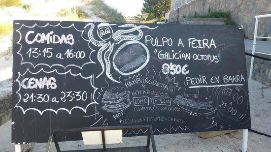 Barco Islas Cíes - Cruceros Rias Baixas: Cartel de restaurante - Galician Octopus