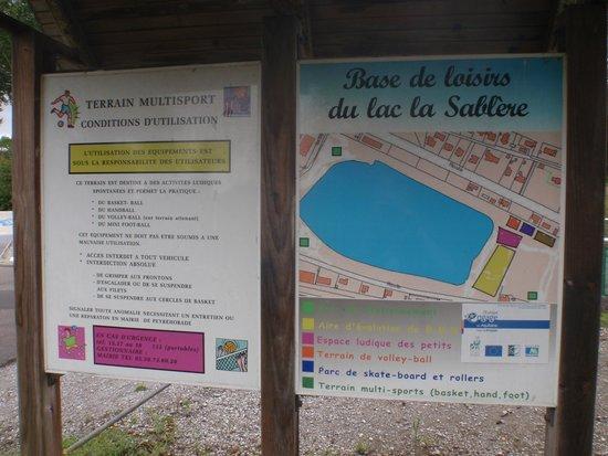Lac de la Sablère : plan terrain multisport