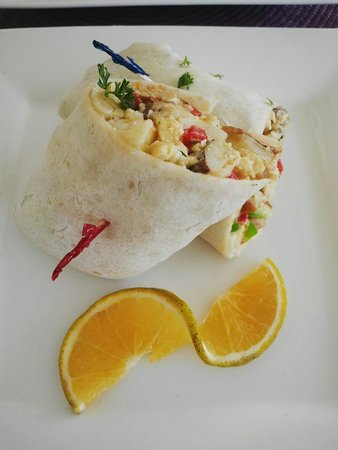 Infinity on the Beach: Breakfast Burrito :D