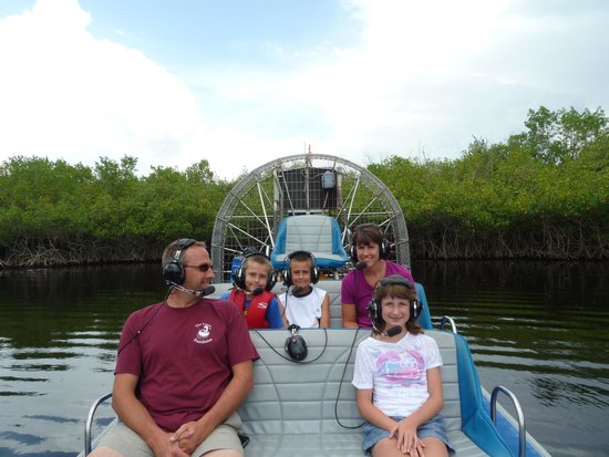 Everglades City Airboat Tours : On Airboat