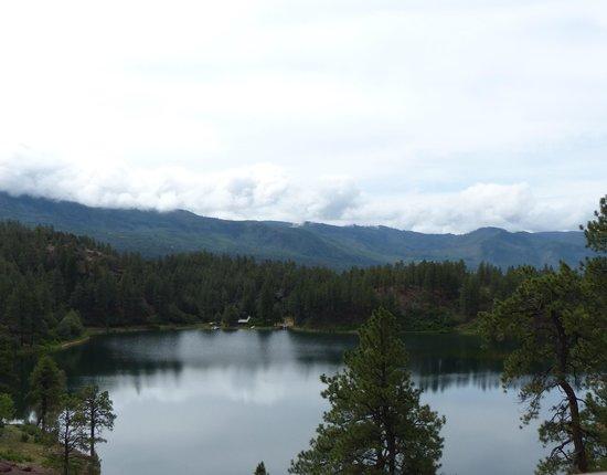 Durango and Silverton Narrow Gauge Railroad and Museum : a lake along the way