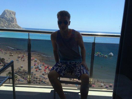 Gran Hotel Sol y Mar : vue du balcon