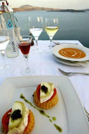 Ambrosia Restaurant: Lobster Bisque and Goat Cheese Stuffed Pastry