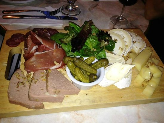 Les Deux Gamins : Cheese and Meat Board Appetizer