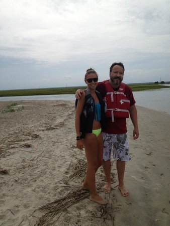 Tidalwave Watersports: Capers Island with my daughter
