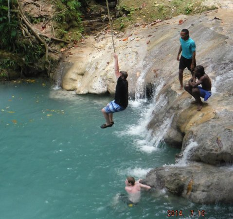 Peat Taylor Tours: Blue Hole Rope Swing