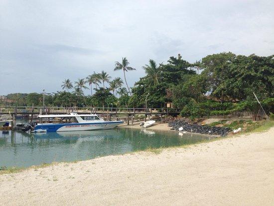Deva Samui Resort & Spa : la plage difficile d'accès