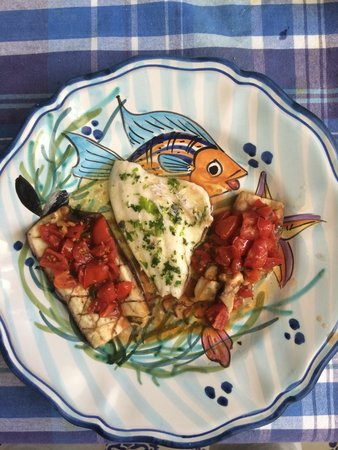 Cooking Class Vincenzino: Fish Fillet and Eggplant with Tomatoes