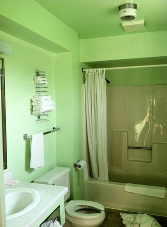 Star Motel : Bathroom. Clean (Except for my towels on the ground)