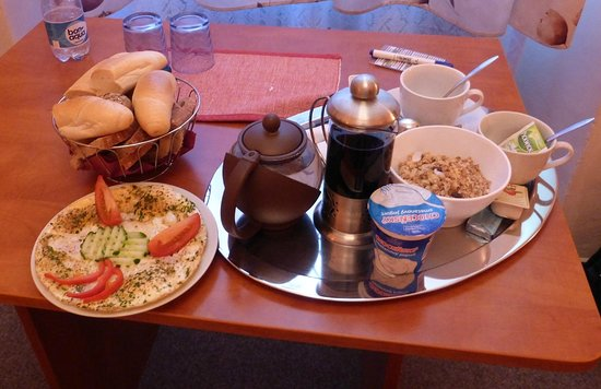 Pension Na Starem Brne: breakfast in the room