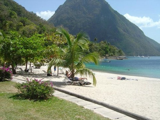 Jalousie Beach and the Dramatic Pitons
