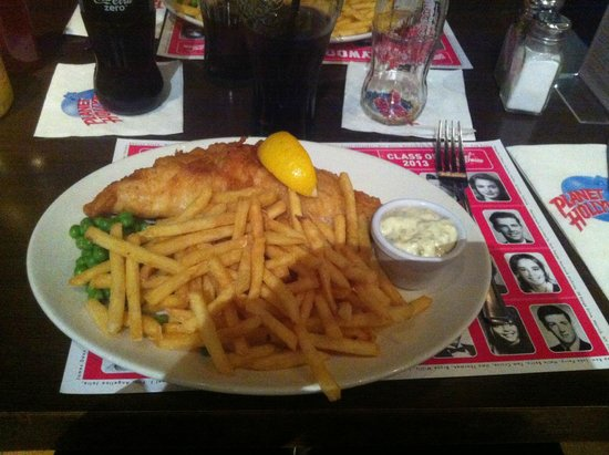 Planet Hollywood : plat fish and chips