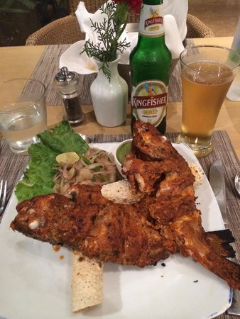 Park Plaza Chennai Omr: Tandori Red Snapper washed down with a Kingfisher beer