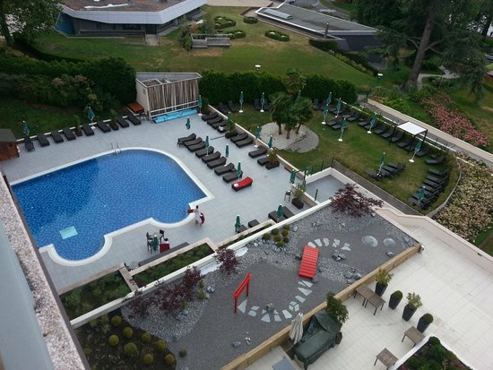 Hilton Evian-les-Bains : view from top