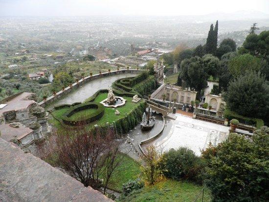 Villa d'Este : Vista do alto do Palácio