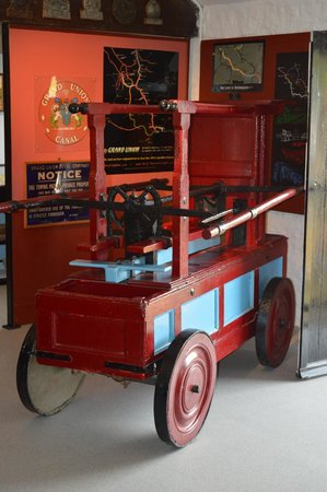 The Canal Museum: Hand operated fire pump