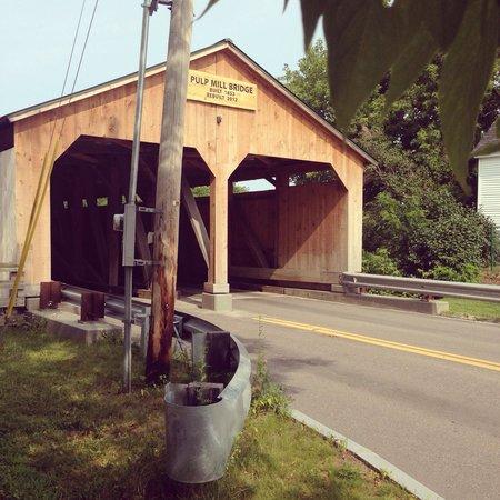 Pulp Mill Covered Bridge: Taken on my morning run.