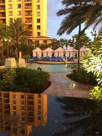 Wyndham Grand Orlando Resort Bonnet Creek: Watching the kids in the pool from the bar...very relaxing place!!