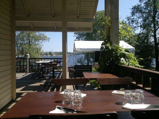 Panimoravintola Huvila: Dining outside