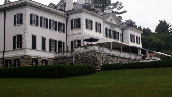 The Mount: View of the back of the house.
