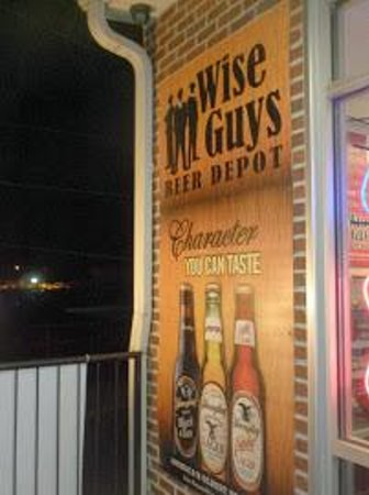 Wise Guys Beer Depot : Sign out front of store