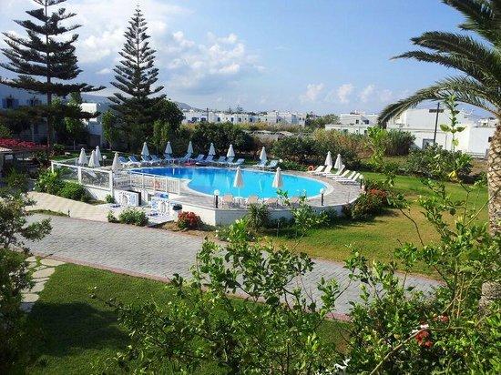 Birikos Studios : piscina hotel
