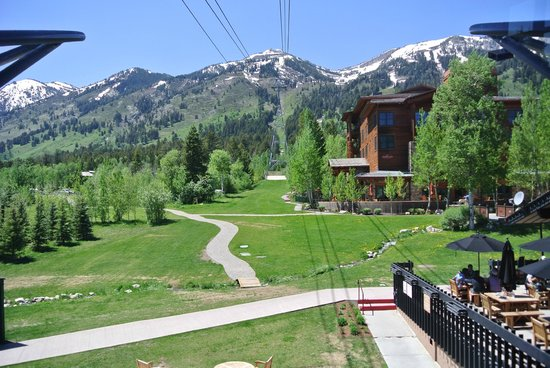 Jackson Hole Aerial Tram: green at bottom
