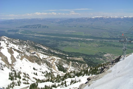 Jackson Hole Aerial Tram: view from the top