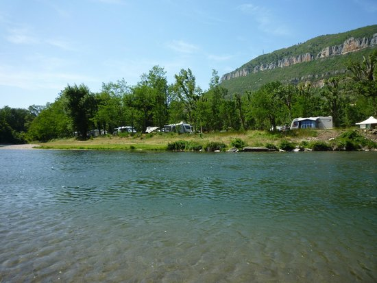Camping Saint Lambert: From far side of river looking at pitch