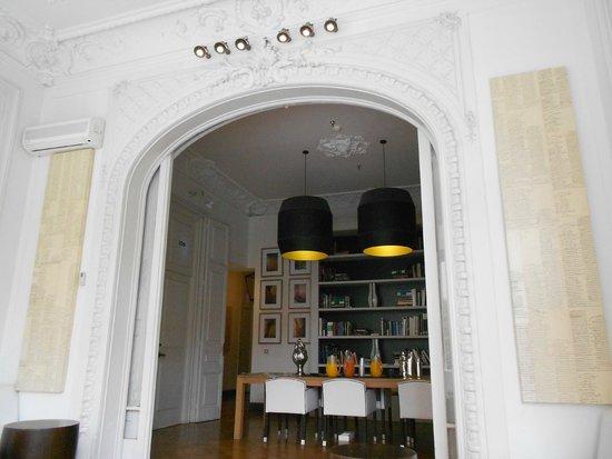 Hotel Praktik Rambla: courtyard reception