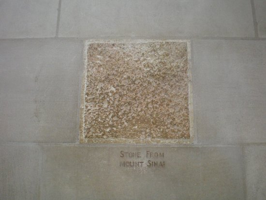 Washington National Cathedral: Stone from Mount Sinai