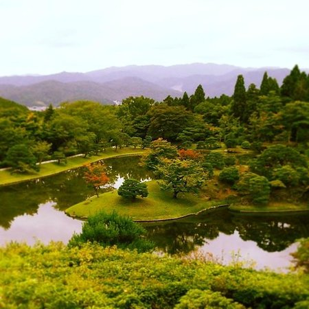 Shugakuin Imperial Villa: viewing the lake