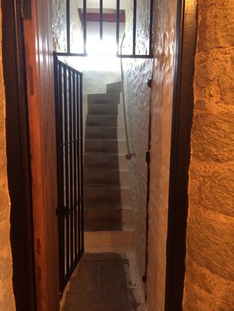 The Old Court: Stairs from cells to the courtroom