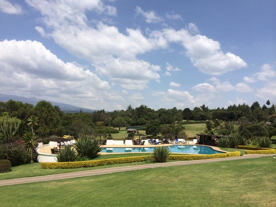 Fairmont Mount Kenya Safari Club pool and gardens