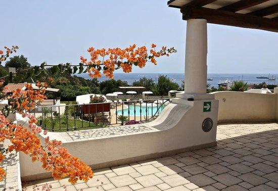 Hotel Bougainville Lipari : Terrace sea view -Hotel Bougainville a Lipari