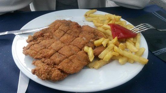 Restaurante Bar Cuesta: San Jacobo relleno de jamón y queso. Como estaba!!!