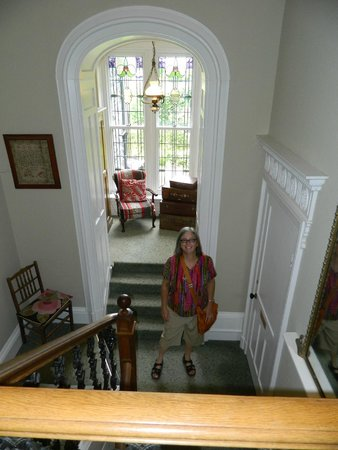 The Grange Country House: Staircase of The Grange. looking toward marvelous little sitting nook.