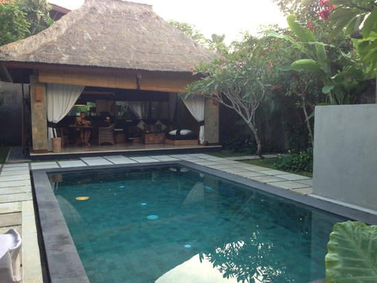 The One Boutique Villa : Pool & huge outdoor seating area