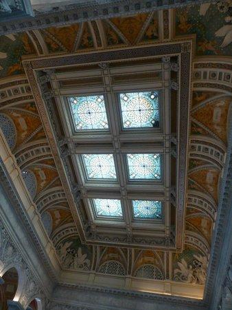 Biblioteca del Congreso: Ceiling shot
