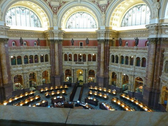 Library of Congress: Main reading room of the LOC