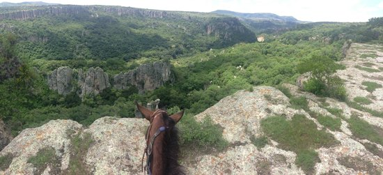 Coyote Canyon Adventures: Panoramic over the canyon with my horse