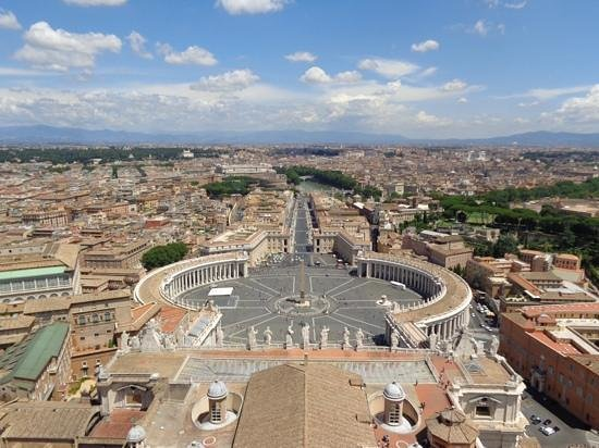 What a Life Tours : View from the top of St Peters dome.