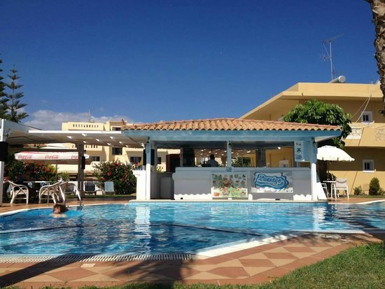 Vergina Studios & Apartments : View from sunbeds
