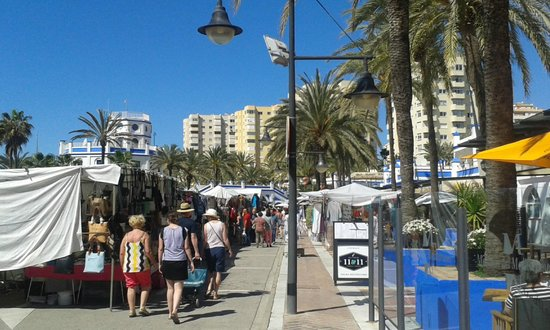 Sunday market at Estepona Marina