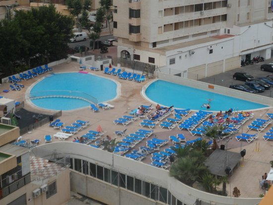 Dynastic Hotel: Our view of the pool