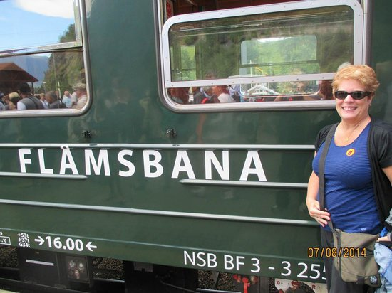 The Flam Railway : Carriage of the train