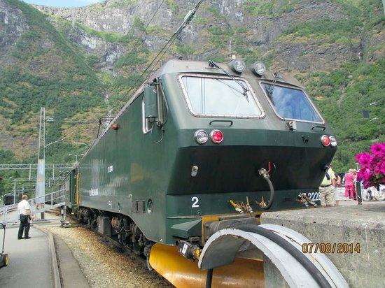 The Flam Railway : Train engine in Flam