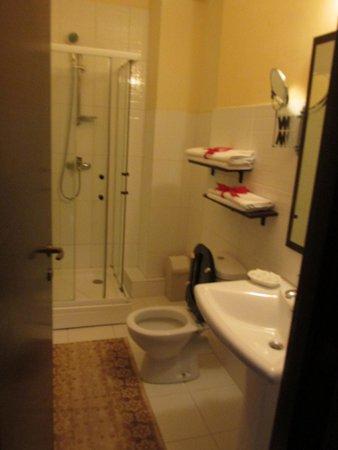 Hotel Gema: Bathroom had nice touches.