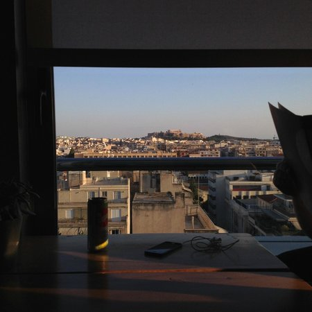 Radisson Blu Park Hotel Athens: view from the 8th Floor Restaurant