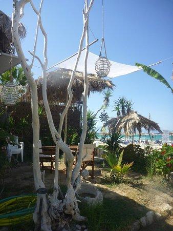 Porto Paradiso Cafe beach bar bistro: View From the Gardens